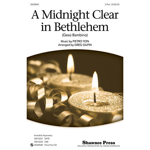 Shawnee Press A Midnight Clear in Bethlehem 2-Part arranged by Greg Gilpin-thumbnail