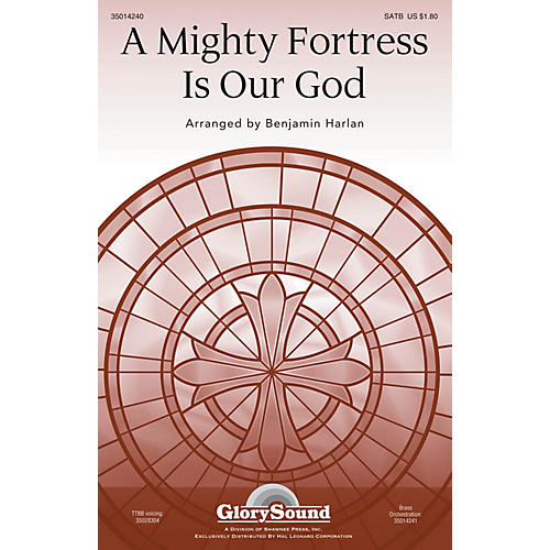 Shawnee Press A Mighty Fortress Is Our God SATB arranged by Benjamin Harlan-thumbnail