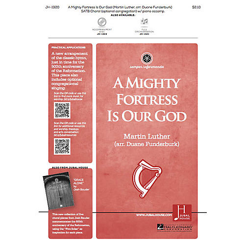 Jubal House Publications A Mighty Fortress Is Our God SATB arranged by Duane Funderburk-thumbnail
