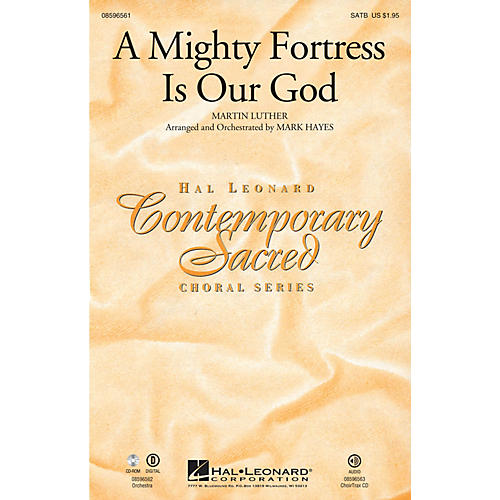 Hal Leonard A Mighty Fortress Is Our God SATB arranged by Mark Hayes-thumbnail