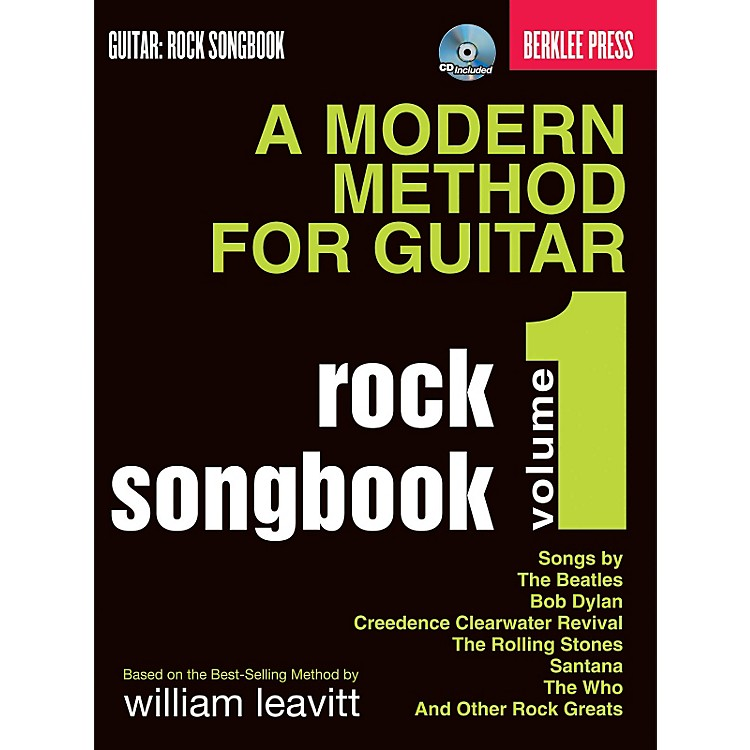 Hal Leonard A Modern Method For Guitar Rock Songbook Volume 1 Book/CD