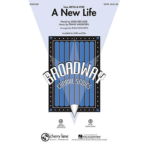 Cherry Lane A New Life (from Jekyll & Hyde) SATB arranged by Rollo Dilworth