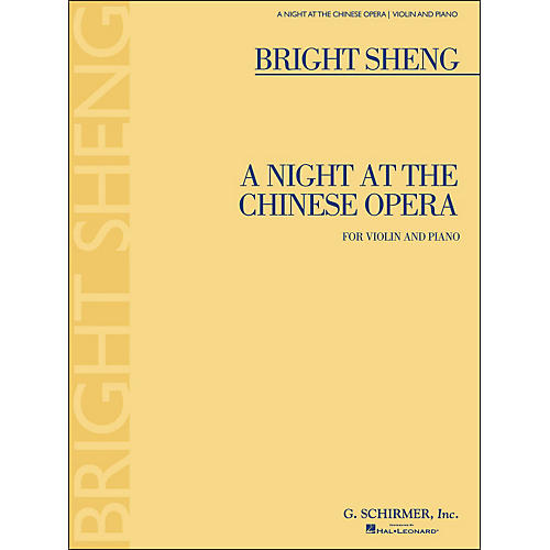 G. Schirmer A Night At The Chinese Opera for Violin And Piano By Sheng-thumbnail