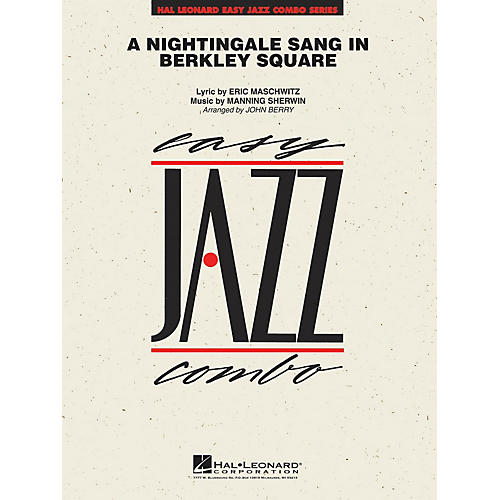 Hal Leonard A Nightingale Sang in Berkeley Square Jazz Band Level 2 Arranged by John Berry-thumbnail