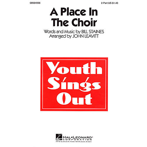 Hal Leonard A Place in the Choir 2-Part arranged by John Leavitt