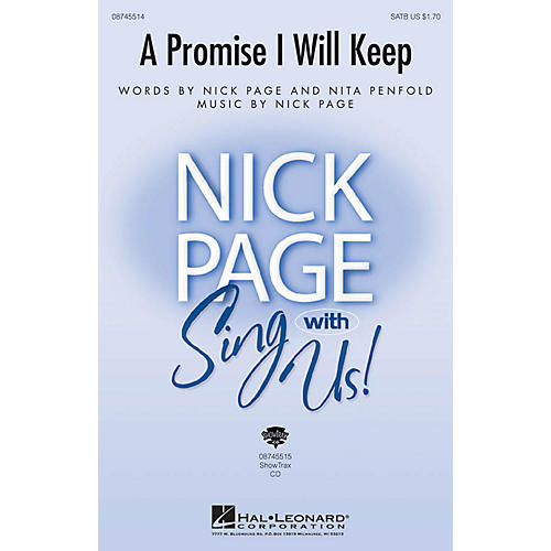 Hal Leonard A Promise I Will Keep ShowTrax CD Composed by Nick Page-thumbnail