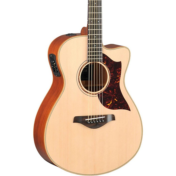 Yamaha A-Series All Solid Wood Concert Acoustic-Electric Guitar with SRT Preamp/Pickup Mahogany Back & Sides