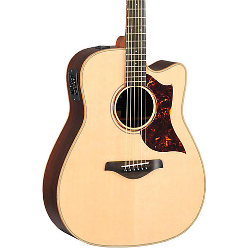 Yamaha A-Series All Solid Wood Dreadnought Acoustic-Electric Guitar with SRT Preamp/Pickup