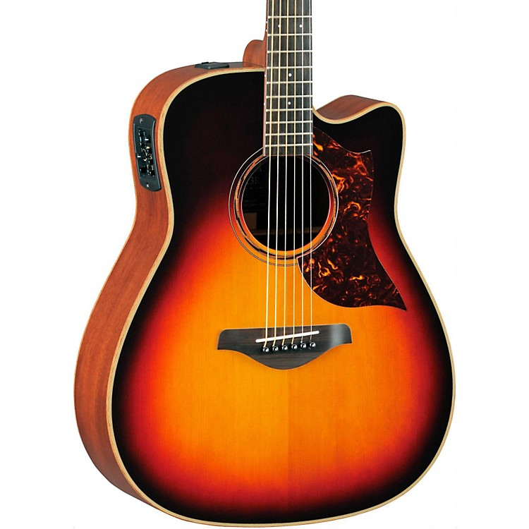 YamahaA-Series All Solid Wood Dreadnought Acoustic-Electric Guitar with SRT Preamp/PickupMahogany Back & Sides