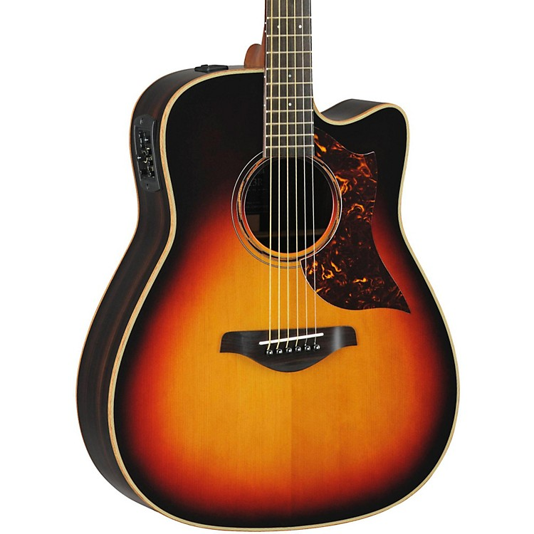 Yamaha A-Series All Solid Wood Dreadnought Acoustic-Electric Guitar with SRT Preamp/Pickup Vintage Sunburst