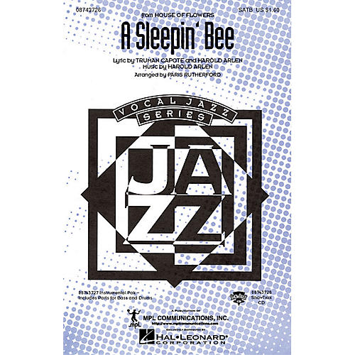 Hal Leonard A Sleepin' Bee (from House of Flowers) SATB arranged by Paris Rutherford