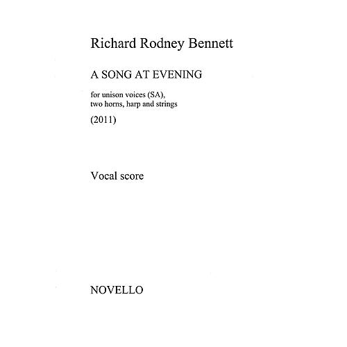 Novello A Song at Evening (Vocal Score) Vocal Score Composed by Richard Rodney Bennett-thumbnail
