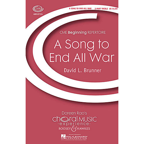 Boosey and Hawkes A Song to End All War (CME Beginning) 2-Part composed by David Brunner
