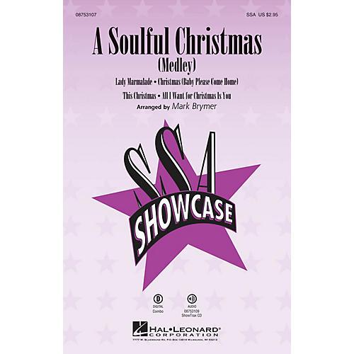 Hal Leonard A Soulful Christmas (Medley) SSA arranged by Mark Brymer-thumbnail