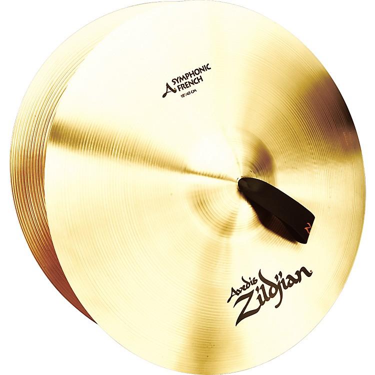 ZildjianA Symphonic French Tone Crash Cymbal Pair18 Inch
