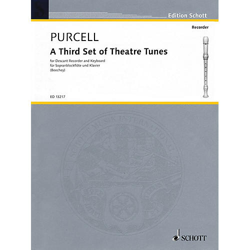 Schott A Third Set of Theatre Tunes (Descant Recorder and Piano) Woodwind Series CD-thumbnail