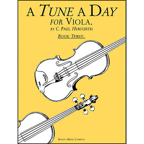 Music Sales A Tune A Day Viola Book 3
