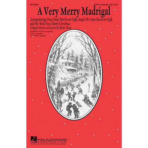 Hal Leonard A Very Merry Madrigal SATB a cappella composed by Kirby Shaw-thumbnail