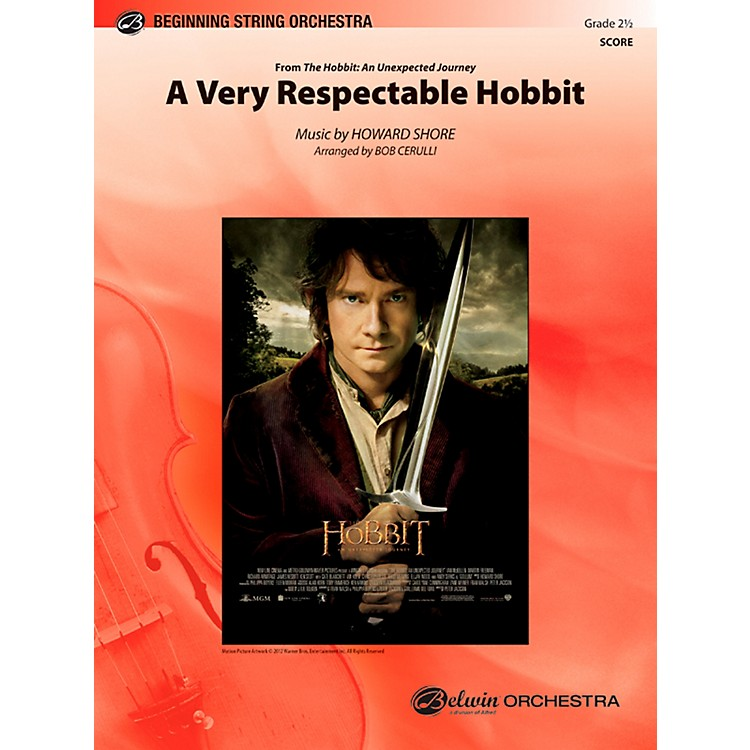 AlfredA Very Respectable Hobbit (from The Hobbit: An Unexpected Journey) Full Orchestra Grade 2.5 Set
