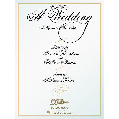 Edward B. Marks Music Company A Wedding (An Opera in Two Acts Vocal Score) E.B. Marks Series Softcover  by William Bolcom-thumbnail