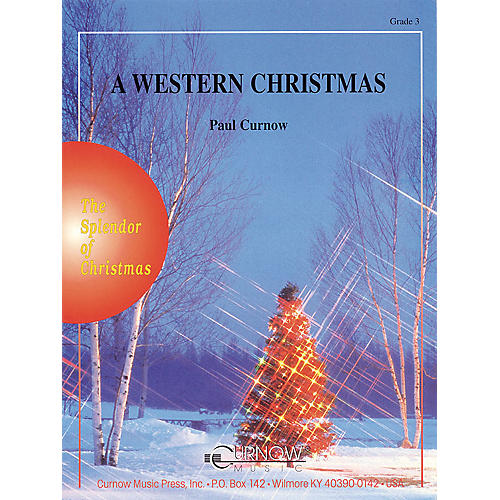 Curnow Music A Western Christmas (Grade 3 - Score and Parts) Concert Band Level 3 Composed by Paul Curnow-thumbnail