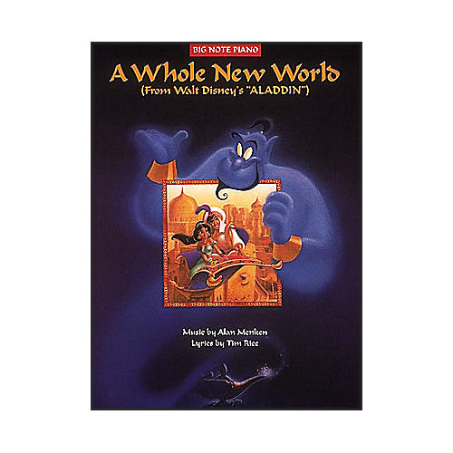 Hal Leonard A Whole New World From Aladdin - Big Note Piano Songbook