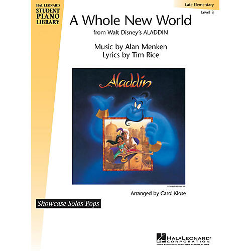 Hal Leonard A Whole New World Piano Library Series by Alan Menken (Level Late Elem)