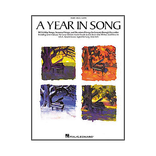 Hal Leonard A Year in Song Piano, Vocal, Guitar Songbook-thumbnail