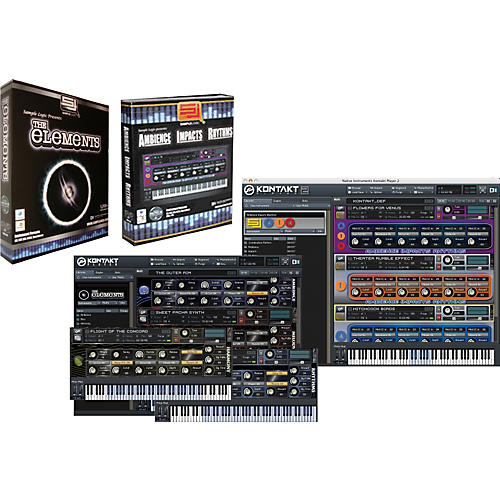 Sample Logic A.I.R. 2.0 & The Elements EXP Virtual Instrument Library Software Combo Bundle-thumbnail