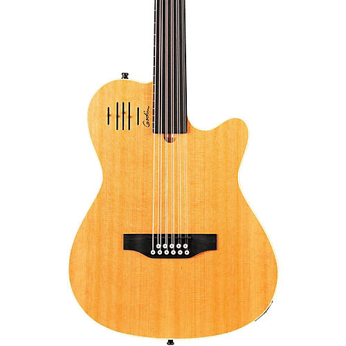 Godin A11 Glissentar 11-String Fretless Acoustic-Electric Guitar Natural Satin