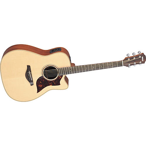 Yamaha A3M All Solid Wood Dreadnought Acoustic-Electric Guitar w/Hardshell Case