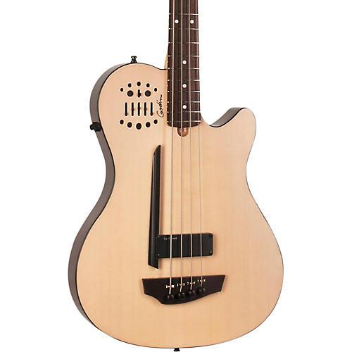 Godin A4 Ultra Natural SA Acoustic-Electric Bass Guitar Natural Rosewood Fretboard