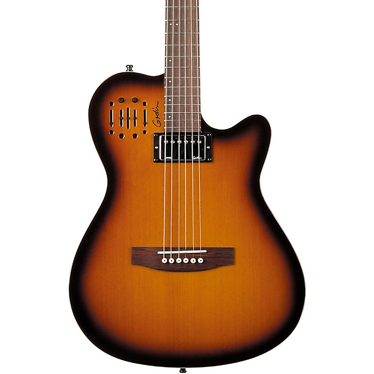 Godin A6 Ultra HG Semi-Acoustic Electric Guitar Cognac Burst