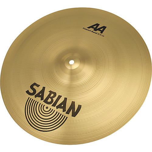 Sabian AA Concert Band Cymbals 16 in. Brilliant Finish