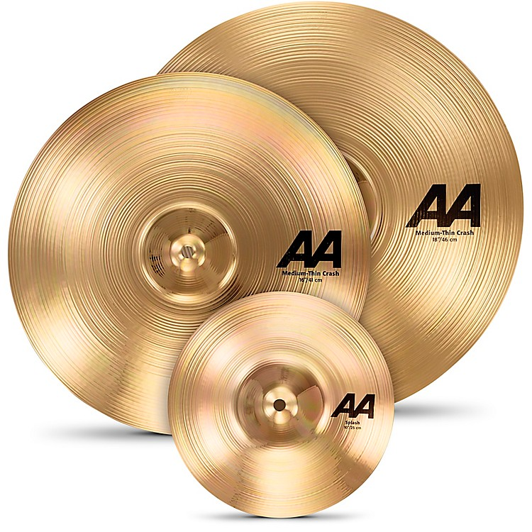 Sabian AA Crash Cymbal Set with Free 10