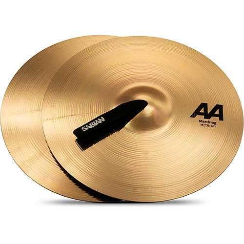 Sabian AA Marching Band Cymbals 14 in. Brilliant Finish