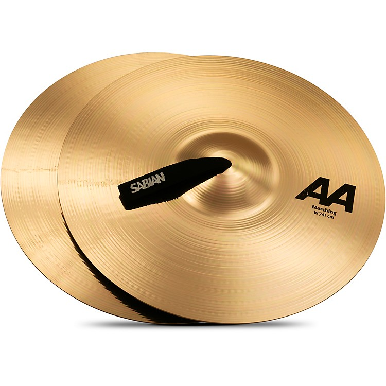Sabian AA Marching Band Cymbals 16 Inch Brilliant Finish