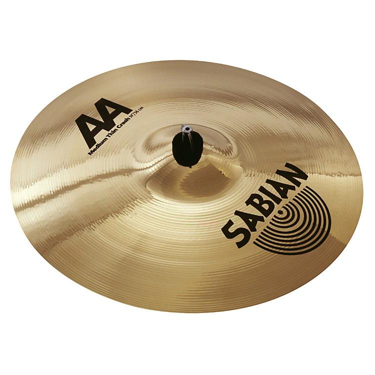 SabianAA Medium Thin Crash Cymbal (Brilliant)