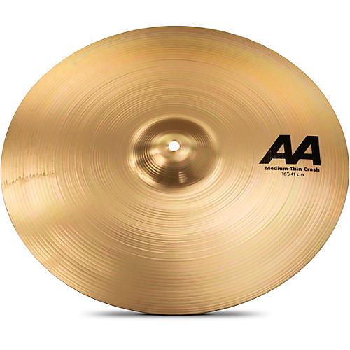 Sabian AA Medium Thin Crash Cymbal Brilliant 16 in.