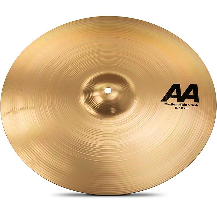 SabianAA Medium Thin Crash Cymbal Brilliant16