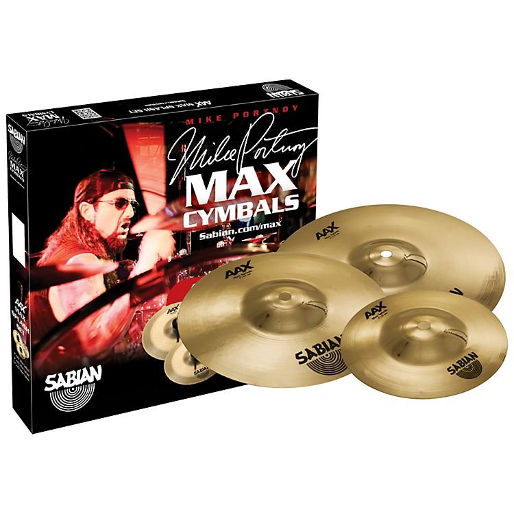 SabianAAX Max Splash Cymbal Set Brilliant Finish7 Inch, 9 Inch, 11 InchBrilliant
