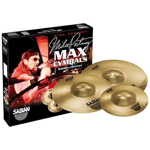 Sabian AAX Max Splash Cymbal Set Brilliant Finish 7 in., 9 in., 11 in. Brilliant
