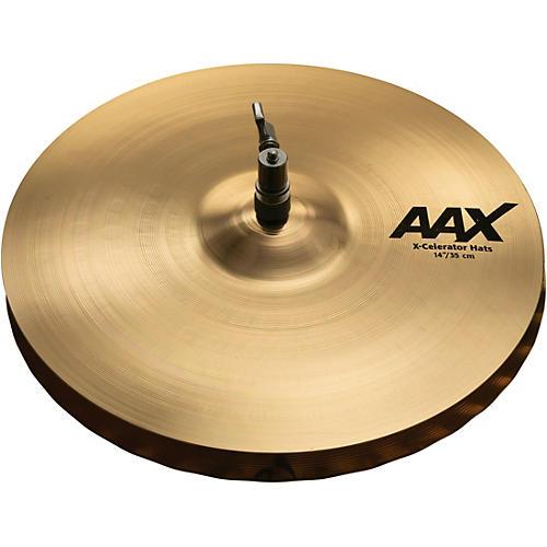 Sabian AAX X-celerator Hi-Hat Cymbals Brilliant 14 in.