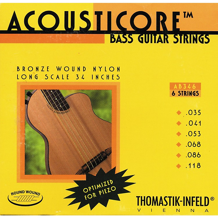 Thomastik AB346 Acousticore Phosphor-Bronze 6-String Bass Strings