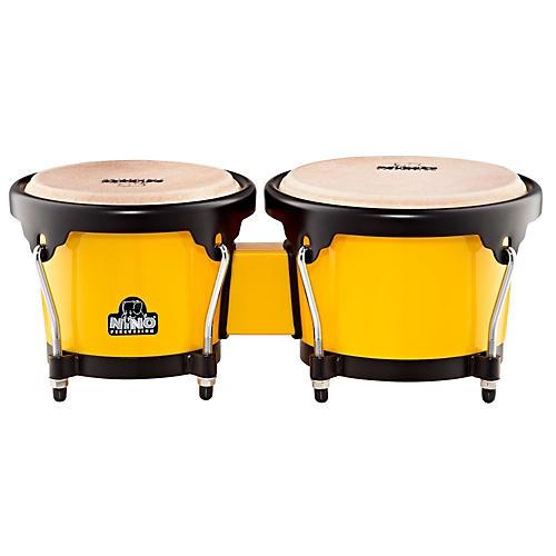 Nino ABS Bongos Plus Yellow Shell/Black Hardware 6-1/2 & 7-1/2 in.
