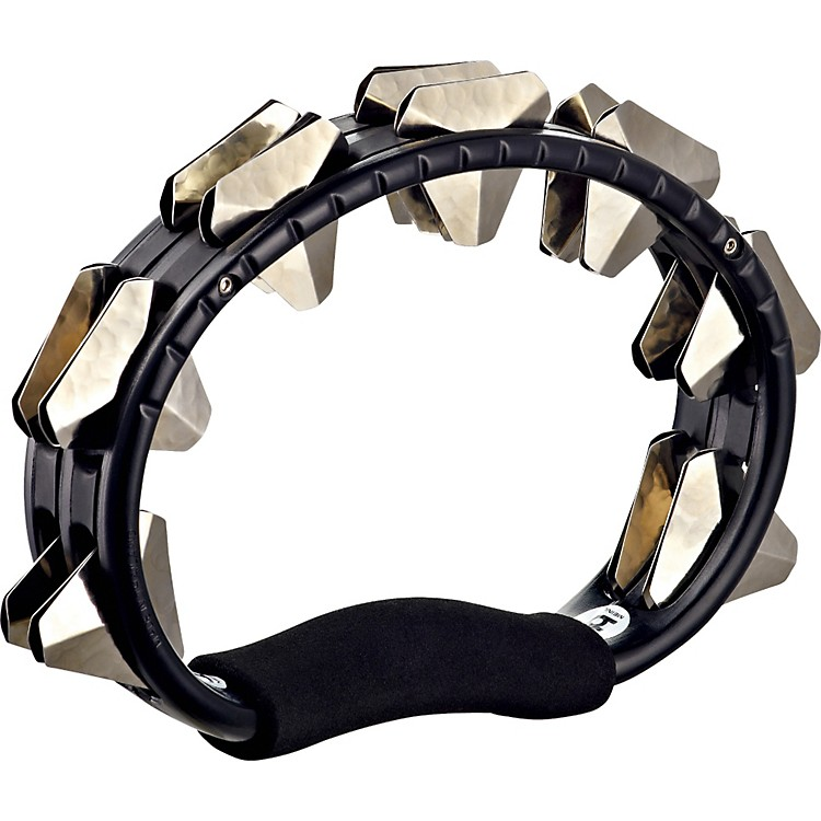 Meinl ABS Hand Held Tambourine Super Dry Steel Jingles Black