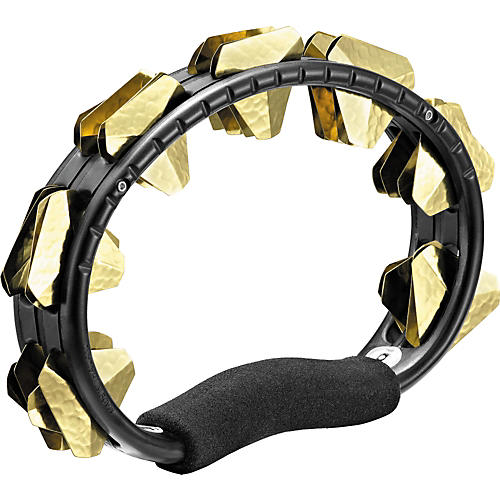 Meinl ABS Super-Dry Studio Tambourine, One Row Black