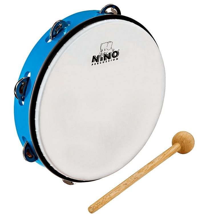 NinoABS Tambourine w/Single Row of JinglesSky Blue10 Inch