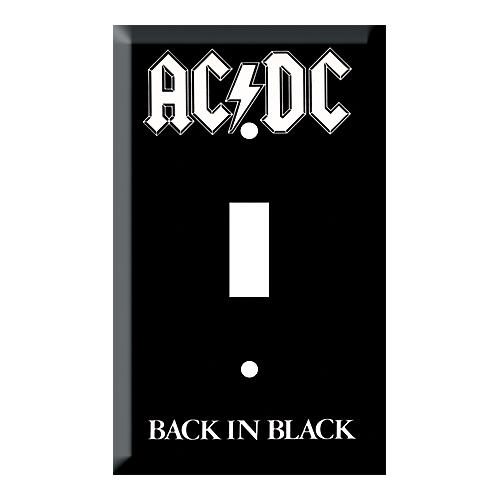 Gear One AC/DC Back in Black Light Switch Plate-thumbnail