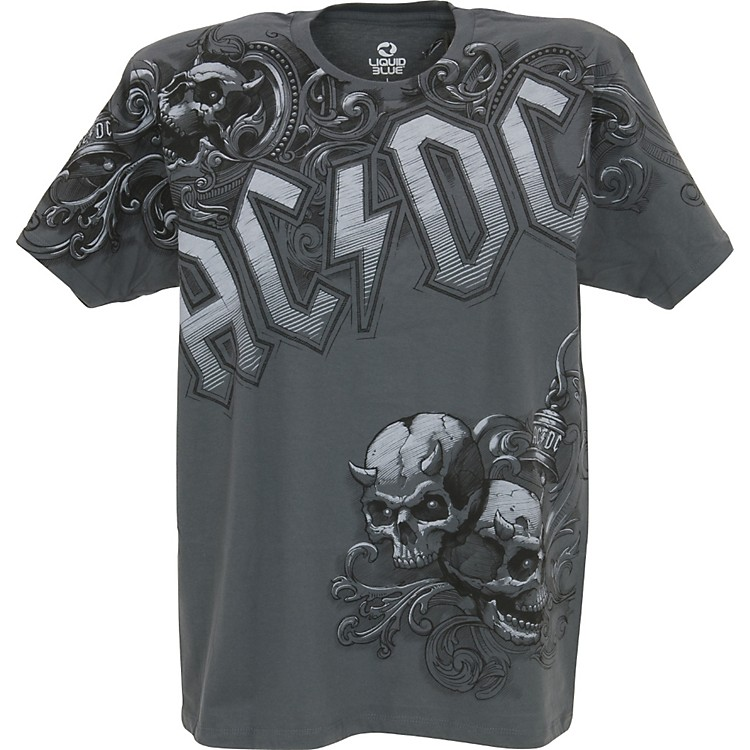 Gear One AC/DC Night Prowler T-Shirt Grey Large